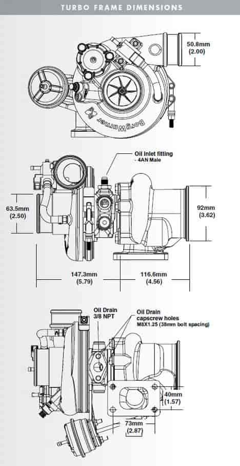 BorgWarner 179426 Wastegate Signal Hose Kit 16-1/4\