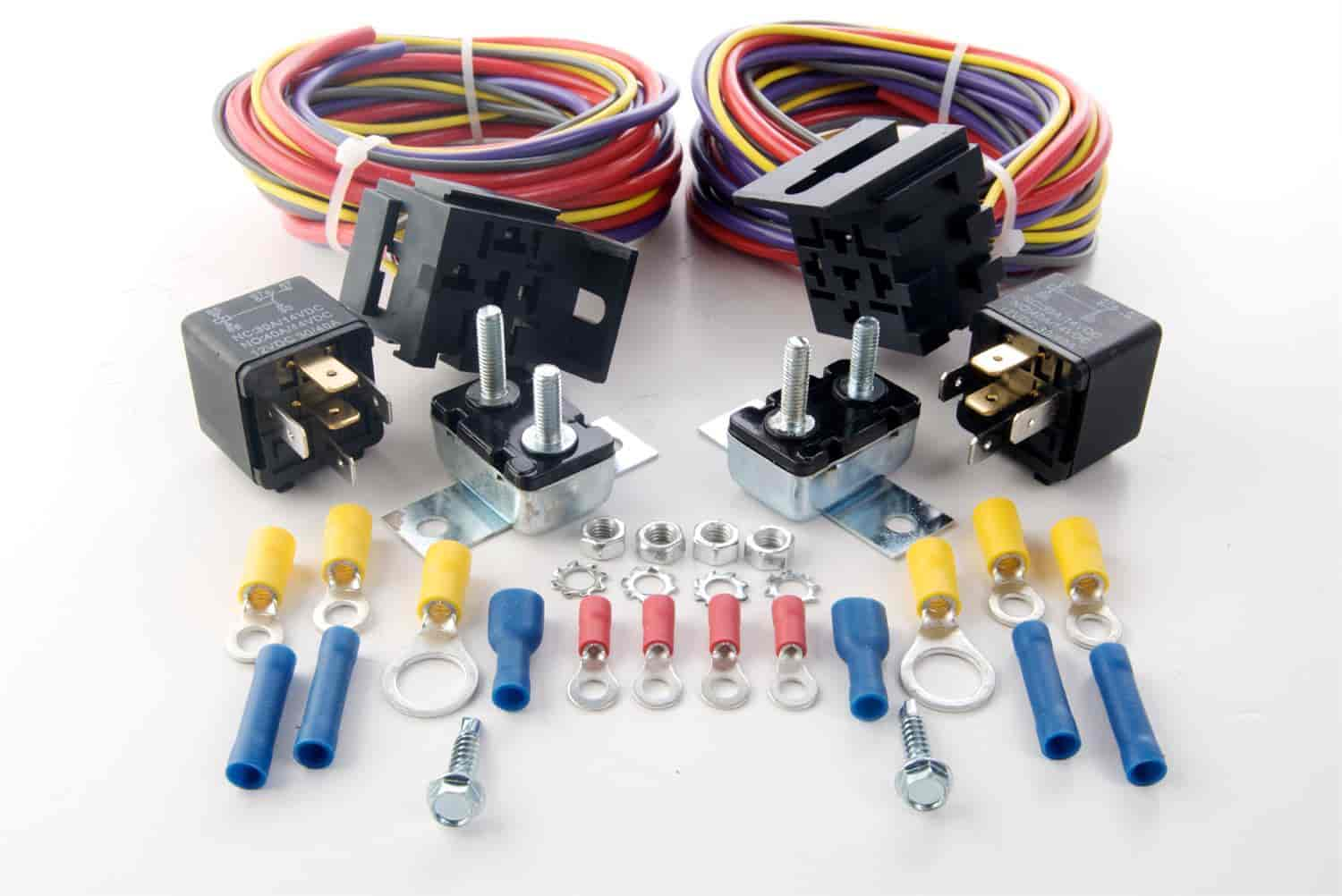 JEGS 10566 Dual Fuel Pump Harness and Relay Kit 30 Amp JEGS