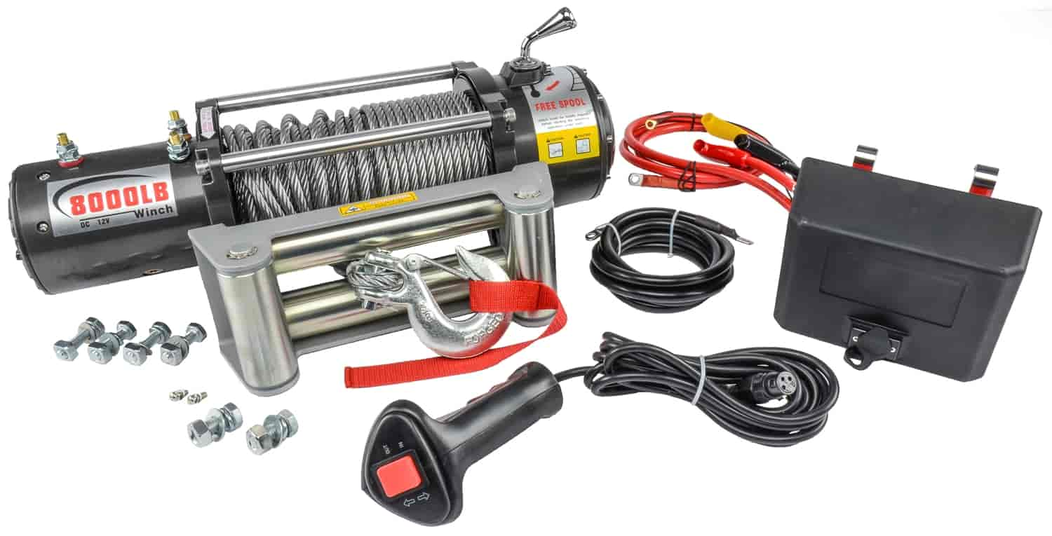 Jegs 92605 Electric Winch 8000 Lb Jegs