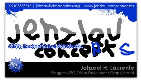 Jehzlau Business Card Front View Only