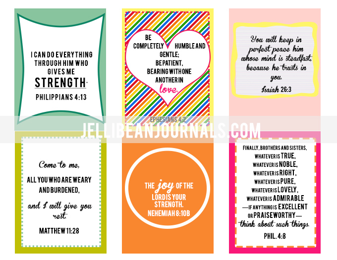 Labor and Birth Bible Verse Printables - Jellibean Journals