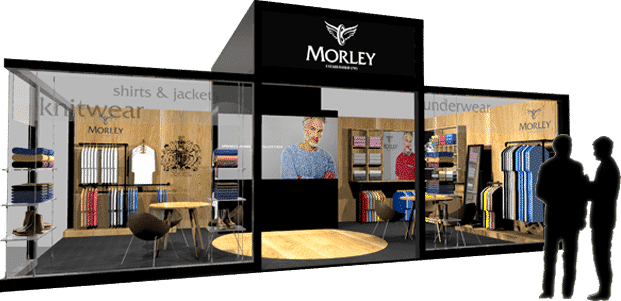 Wolsey Morely exhibition stand design concept