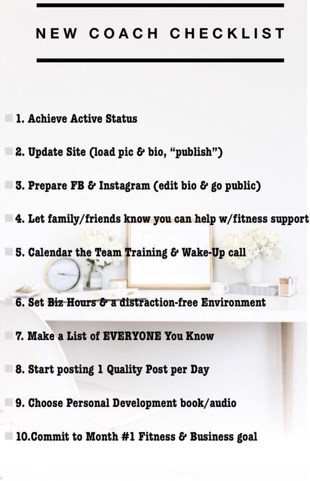 2 New Coach Checklist \u2013 Jenelle Summers