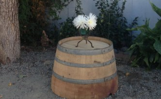 Repurposing a wine barrel is easy!