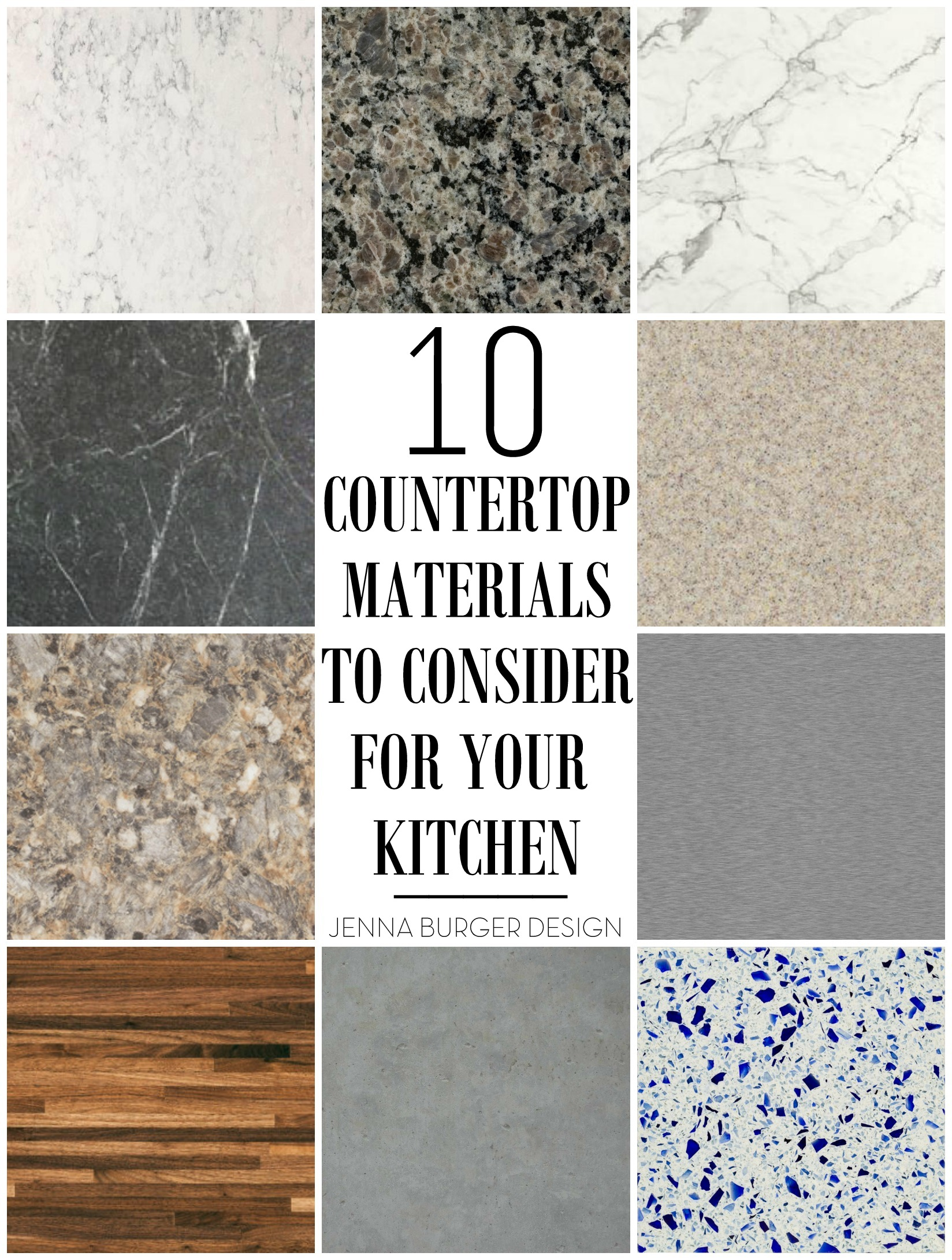 10 countertop materials to consider for the kitchen kitchen countertop material 10 Countertop Materials to Consider for your KITCHEN Round up of material choices at www