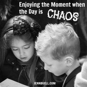 enjoying moment in chaos