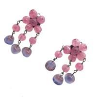 Italian Earrings Art Glass Vintage Clip | Vintage Costume ...