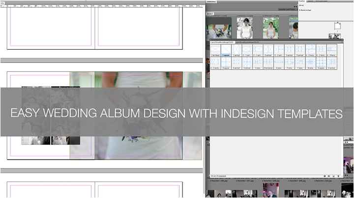 QA How to create a wedding album in InDesign using templates - photo album templates free