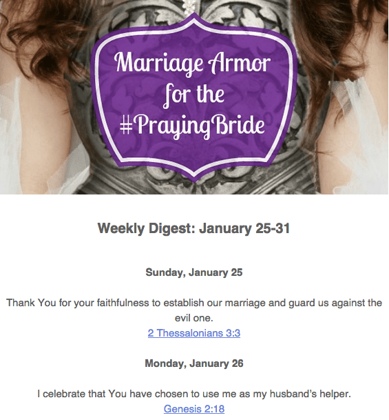 Marriage Armor Weekly Digest Sample