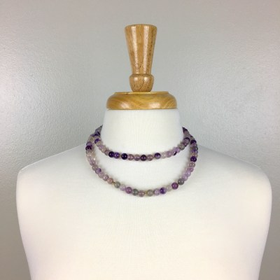 Purple fluorite and 14K gold Necklace