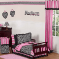 New Toddler Bed Set Pink and Black