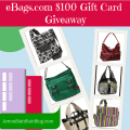 eBags.com $100 Gift Card giveaway