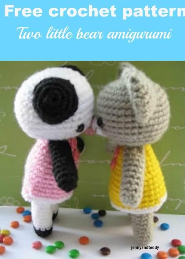 two little bear amigurumi free crochet pattern by jennyandteddy