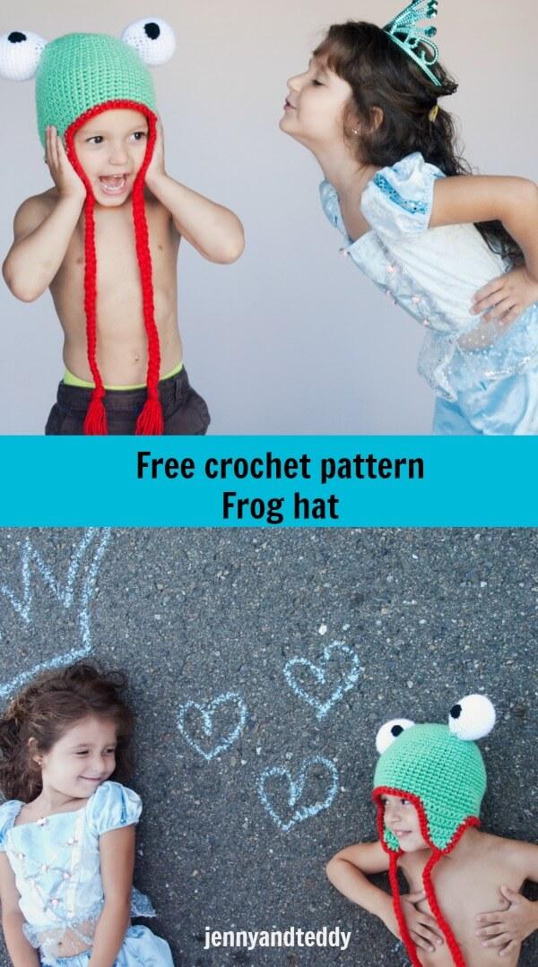 frog hat free crochet pattern