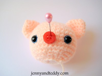 sewing pieces together for amigurumi dolls