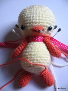 attach amigurumi pieces