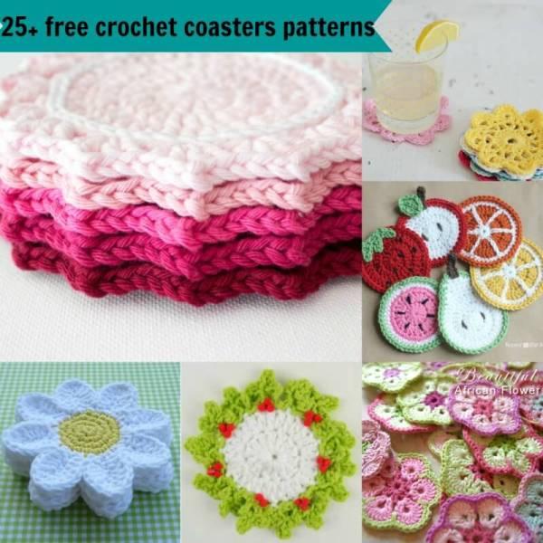 25 Free Easy Crochet Coasters Patterns