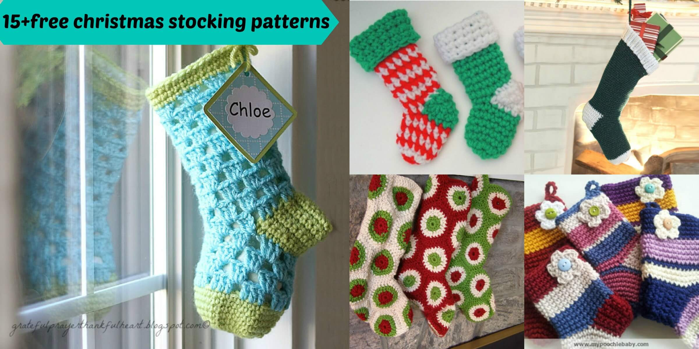 15+free crochet christmas stocking patterns