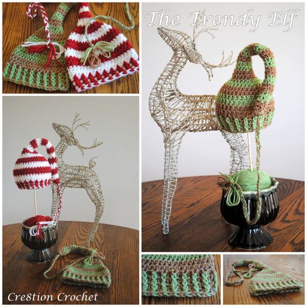 25+ free Crochet Santa hat and Christmas theme