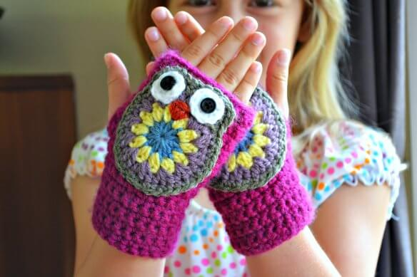 8.crochet-owl-mitten free patterns