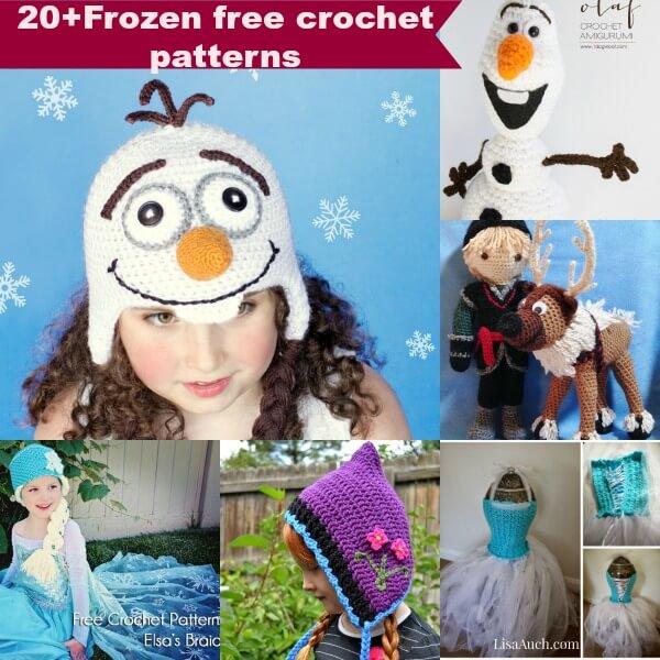 20+frozen free crochet patterns inspired