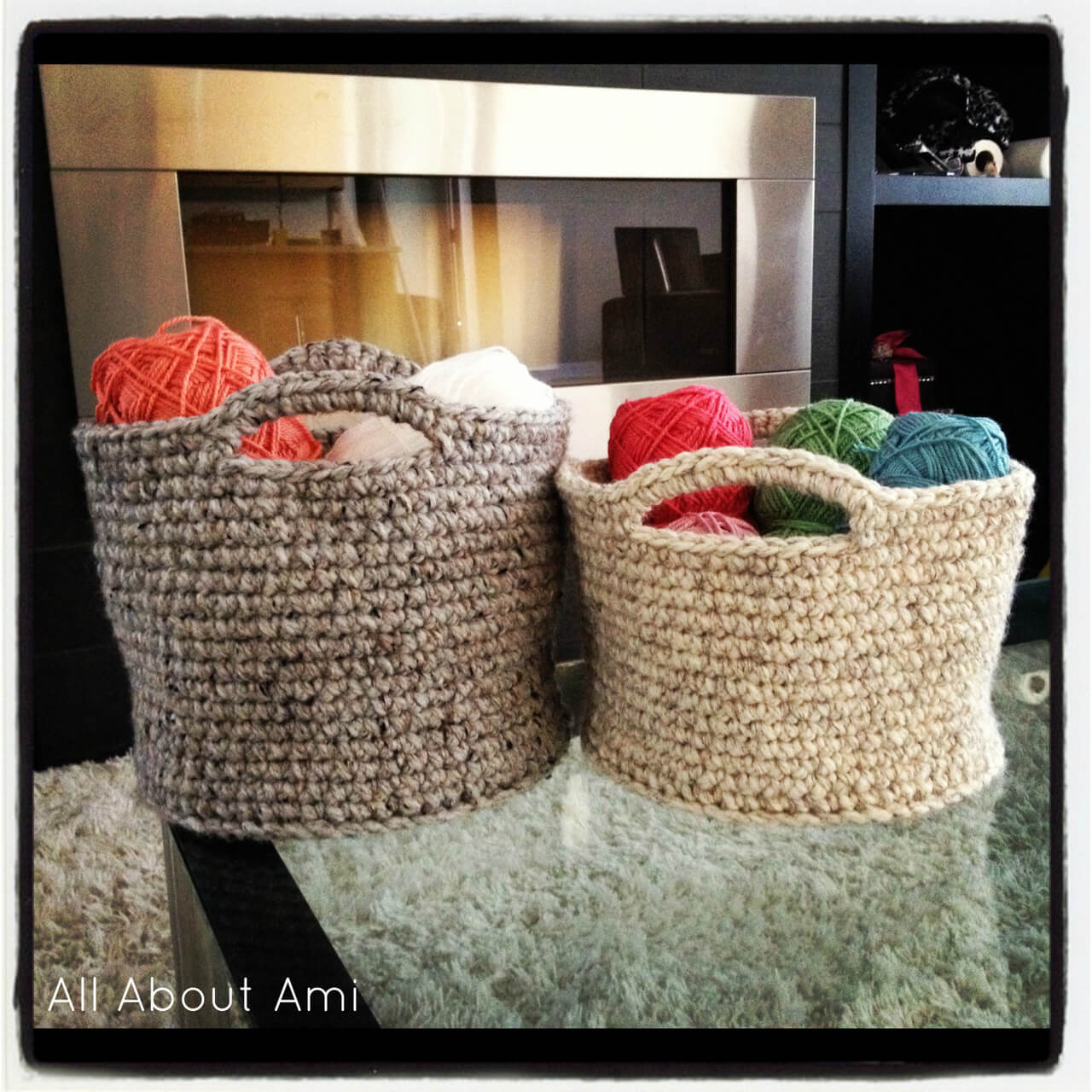 Crochet Basket With Bulky Yarn Free Pattern & 23 free u0026easy crochet baskets patterns