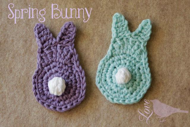 30 free easy easter crochet patterns 26ochet bunny applique easter free pattern dt1010fo