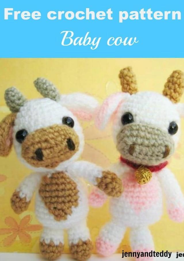 Amigurumi Baby Free Pattern : Lolly baby cow amigurumi free pattern