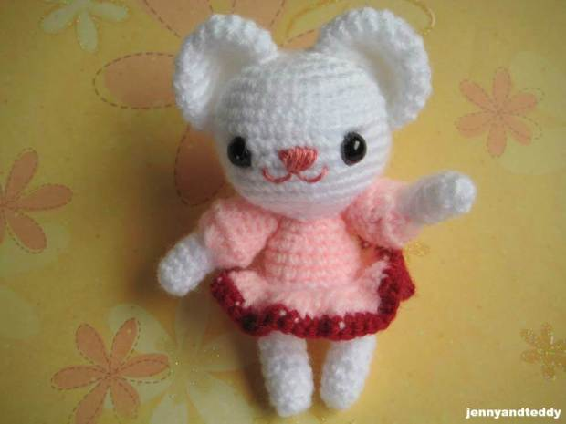 polly bear1 amigurumi free crochet pattern