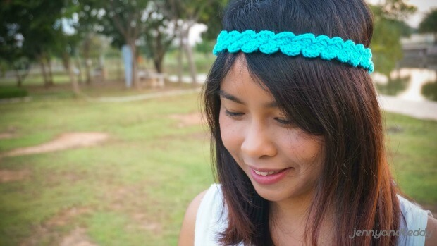 easy free shell stitch headband crochet pattern