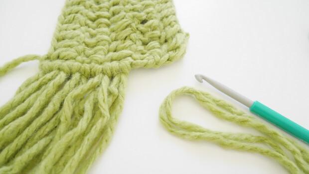 fringe crochet scarf free pattern