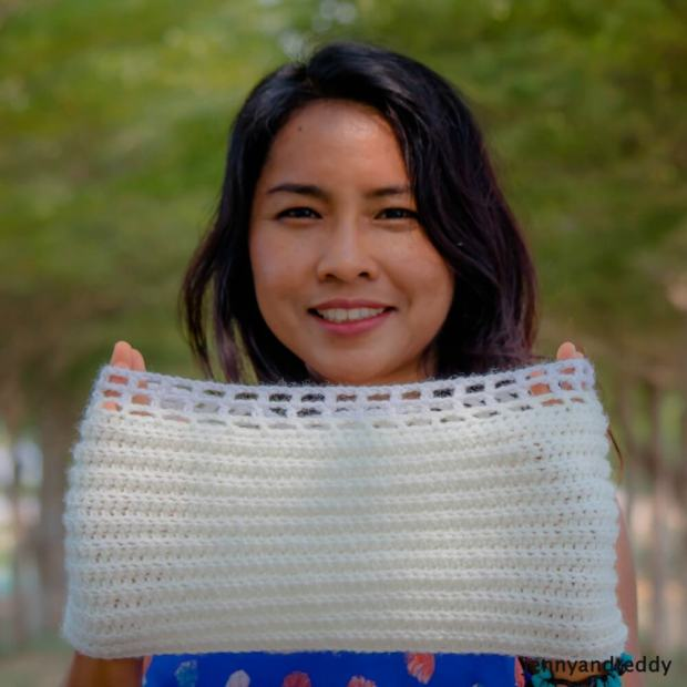 ribbed easy crochet scarf rectangle for beginner free pattern
