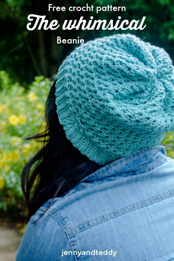 Free crochet pattern the whimsical beanie by jennyandteddy