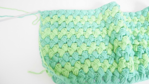 a puff stitches rectangle
