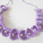 aacrochet scallop beaded headband free pattern
