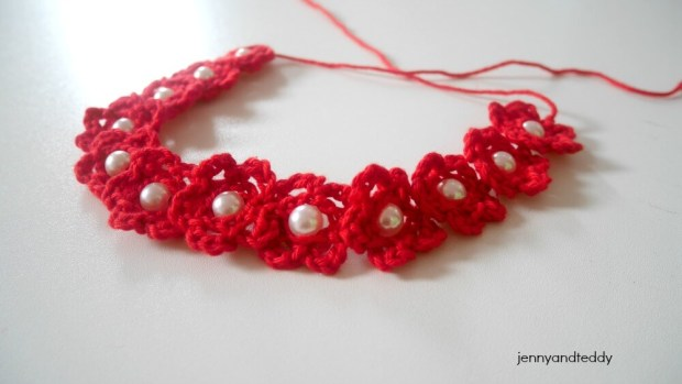 how to crochet beaded headband tutorial