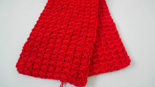 1crochet pocket long scarf