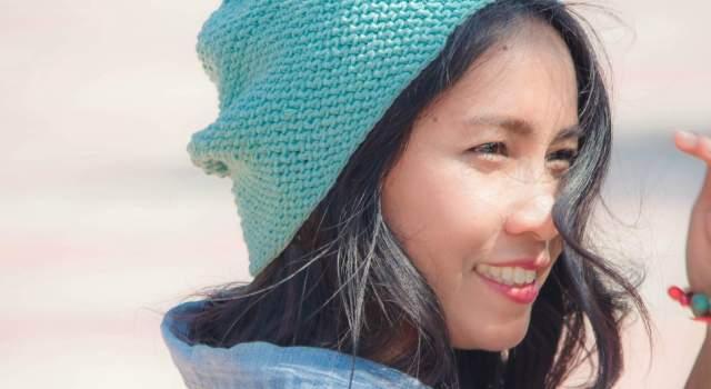 emily slouchy hat beanie free crochet pattern