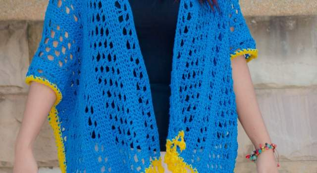 lemon drop kimono cardigan free crochet pattern beginner friendly