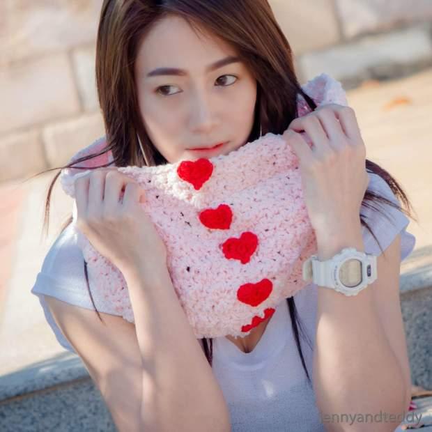 1sweetheart valentine cowl free crochett pattern