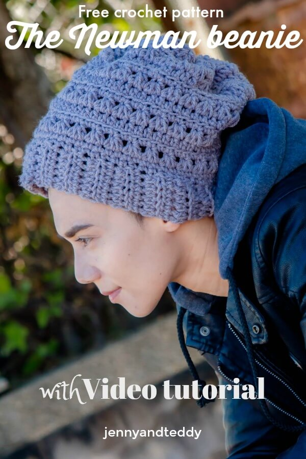 the newman beanie hat with video tutorial free crochet pattern for man hat