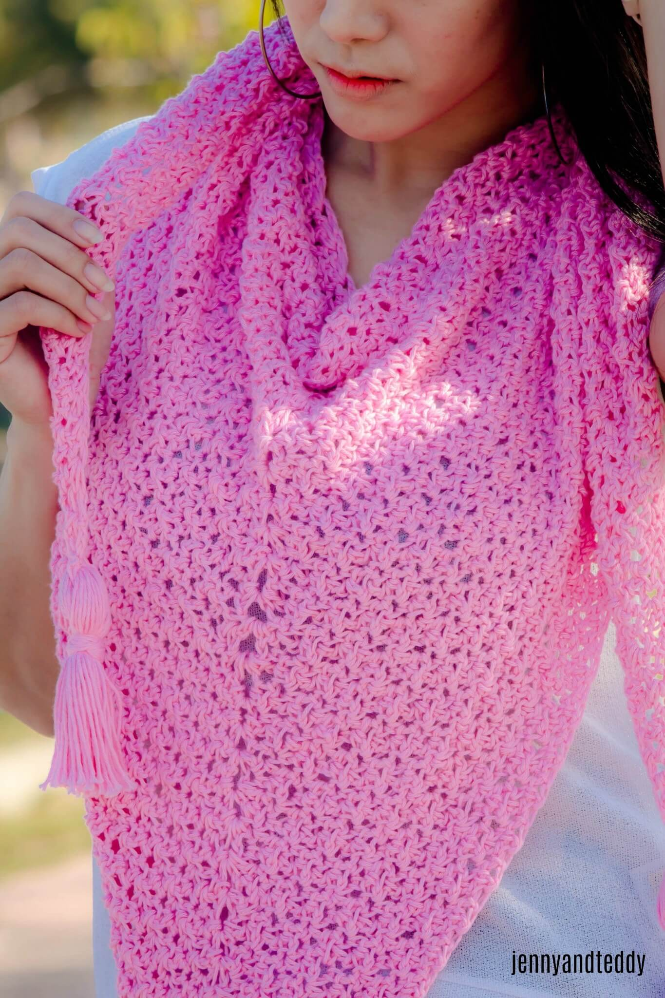 The weekend triangle scarf free crochet pattern