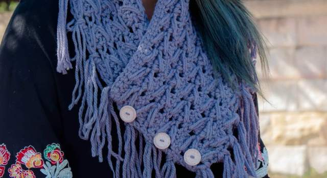 dreaming out lound free crochet cowl pattern