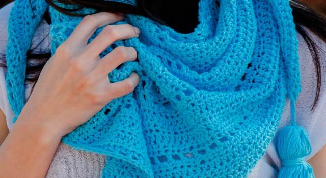 hello spring shawl easy crochet pattern