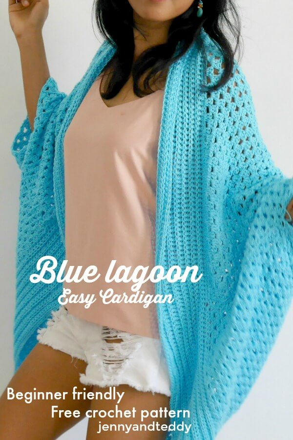 Blue Lagoon Easy Cardigan Free Crochet Pattern
