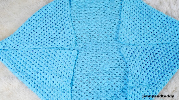 crochet cardigan made from 1 rectangle