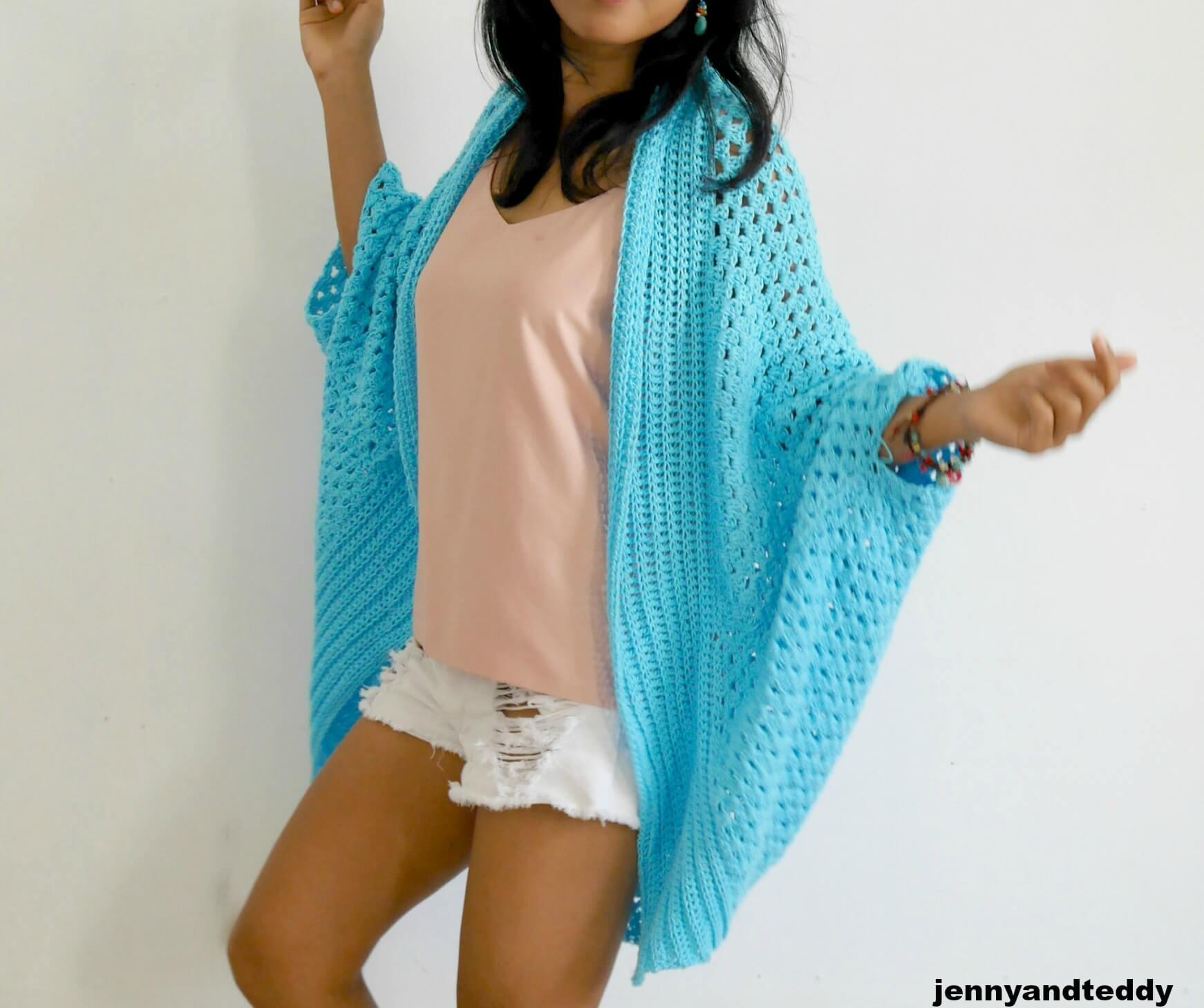 Easy Blanket Cardigan Crochet Pattern