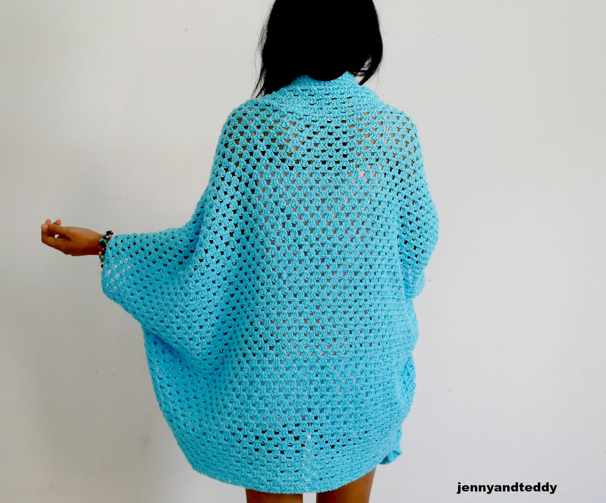Blue lagoon easy cardigan free crochet pattern skill and abbreviations jeuxipadfo Images