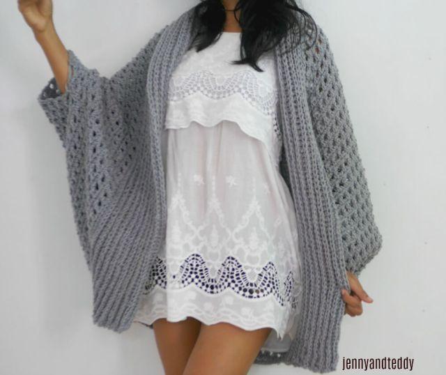 Pretty me oversize chunky cardigan free crochet pattern dt1010fo