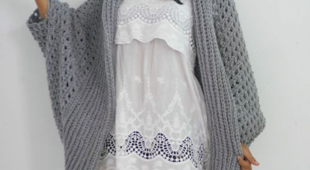 pretty me oversze cocoon chunky crochet cardigan free pattern for beginner